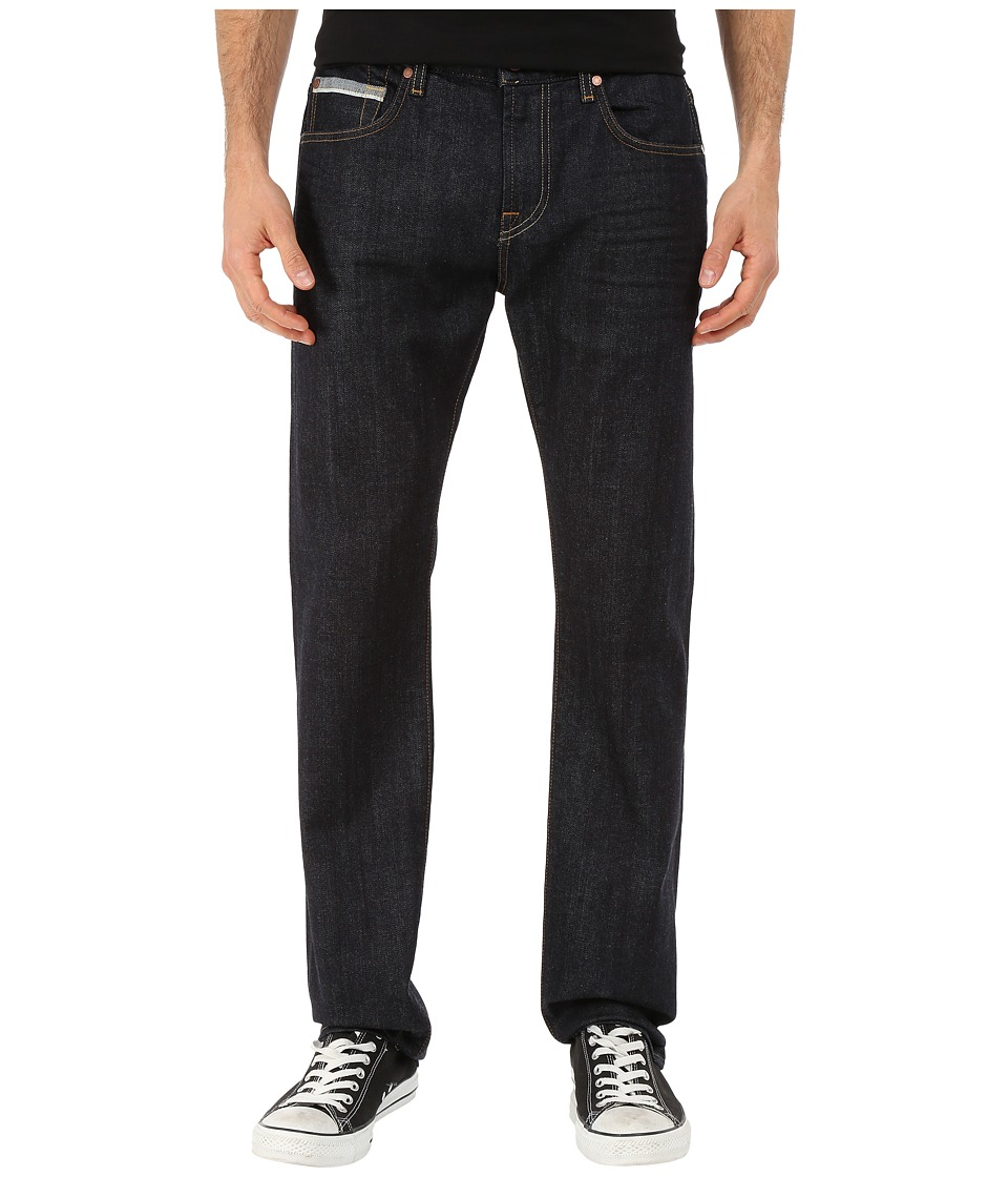 7 For All Mankind - Straight w/ Split Seam Pocket - Stretch Selvedge in Dark Indigo (Dark Indigo) Men