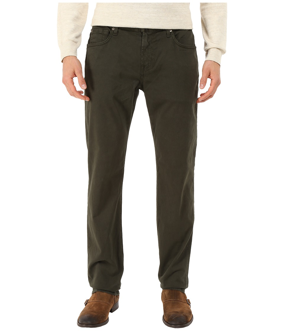 7 For All Mankind - Straight - Sateen in Twig Green (Twig Green) Men's Jeans