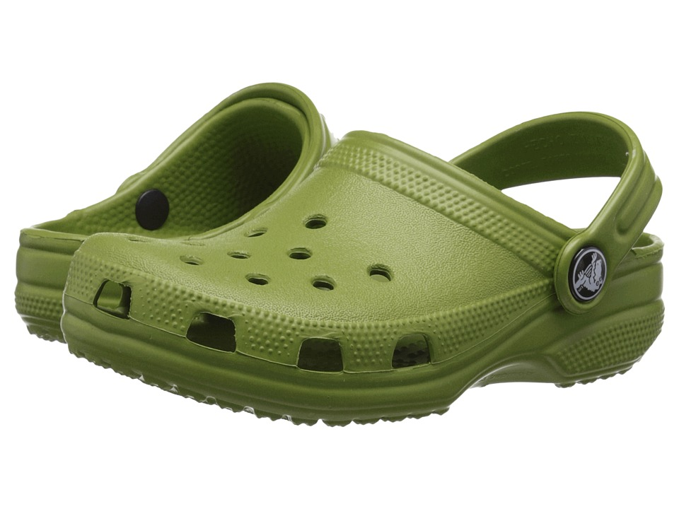 Crocs Kids - Classic (Infant/Toddler/Youth) (Parrot Green) Kids Shoes