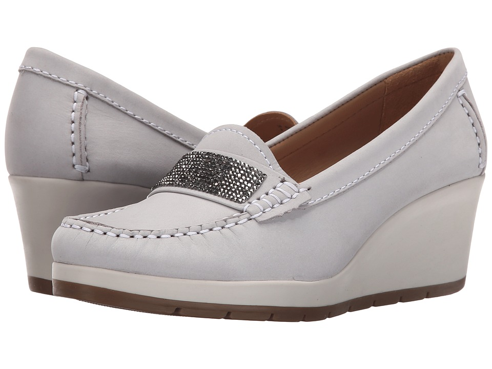 Hush Puppies - Tracy (Light Grey Nubuck) Women's Wedge Shoes