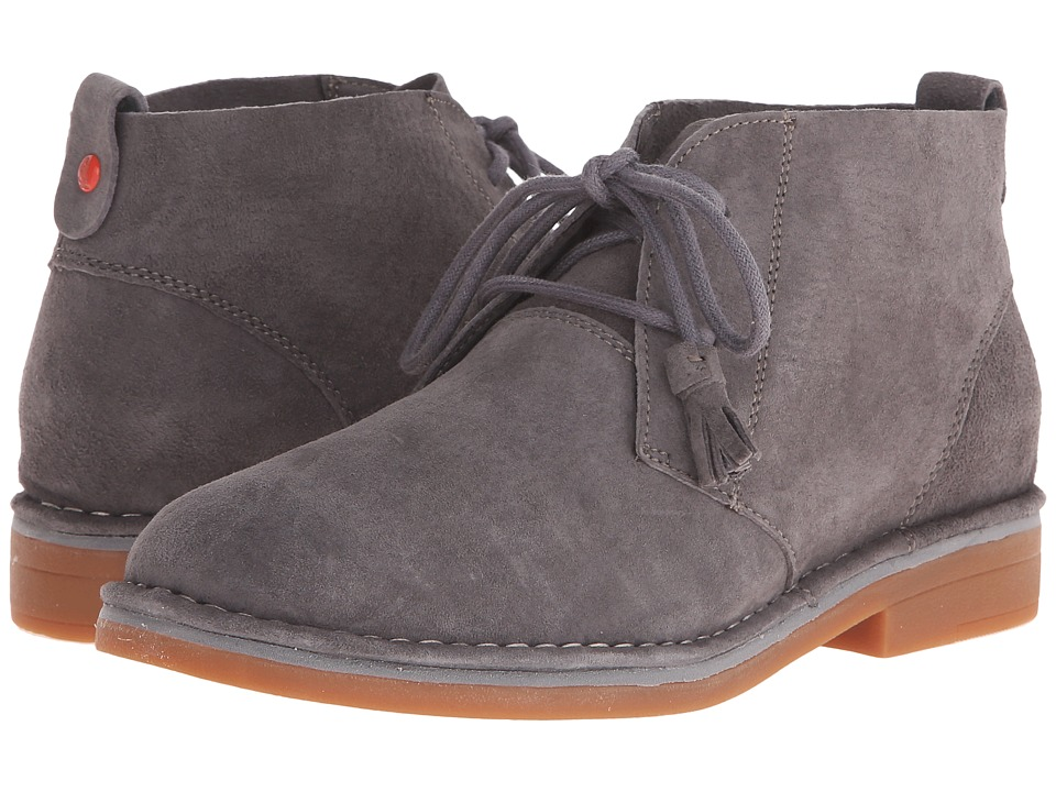 Hush Puppies - Cyra Catelyn (Smoke Suede) Women's Lace-up Boots