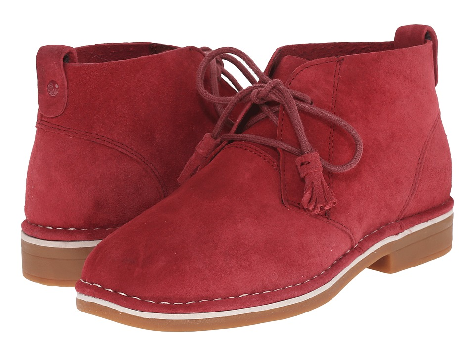 Hush Puppies - Cyra Catelyn (Dark Red Suede) Women's Lace-up Boots