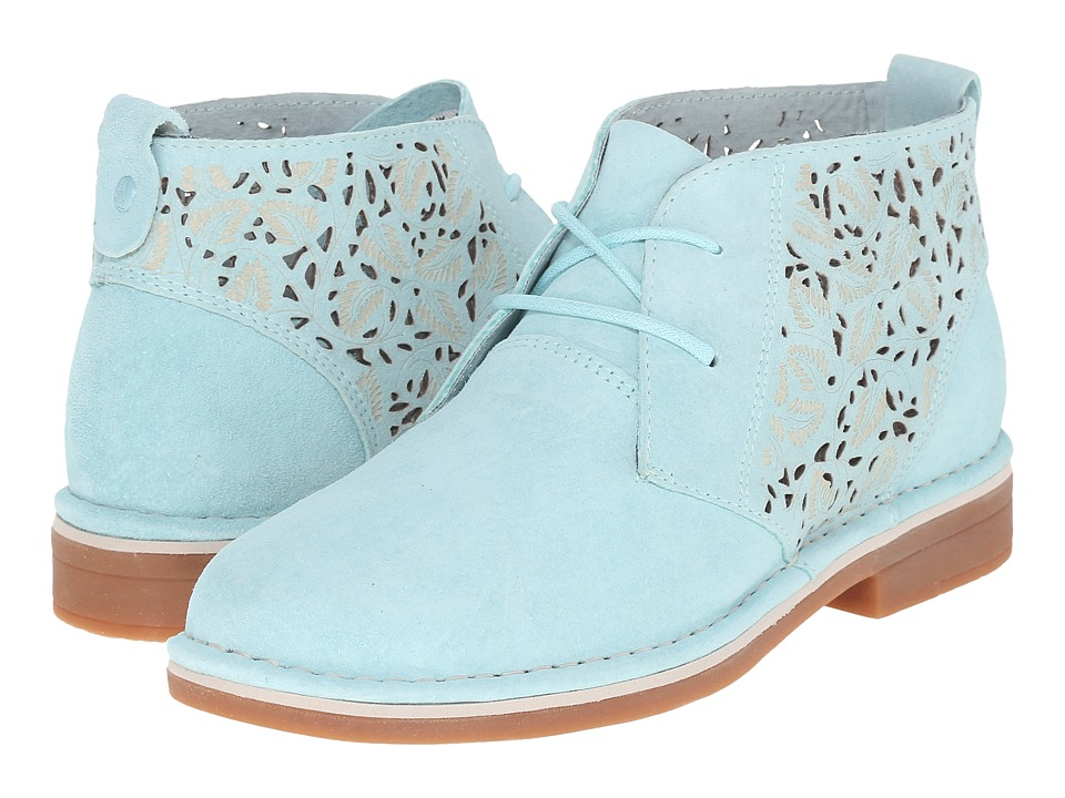 Hush Puppies - Cyra Catelyn II (Aqua Blue Perf Suede) Women's Lace up casual Shoes