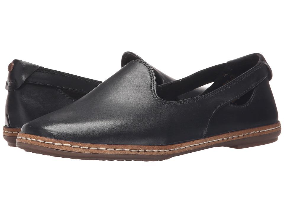 Hush Puppies - Sebeka Piper (Black Leather) Women's Slip on Shoes