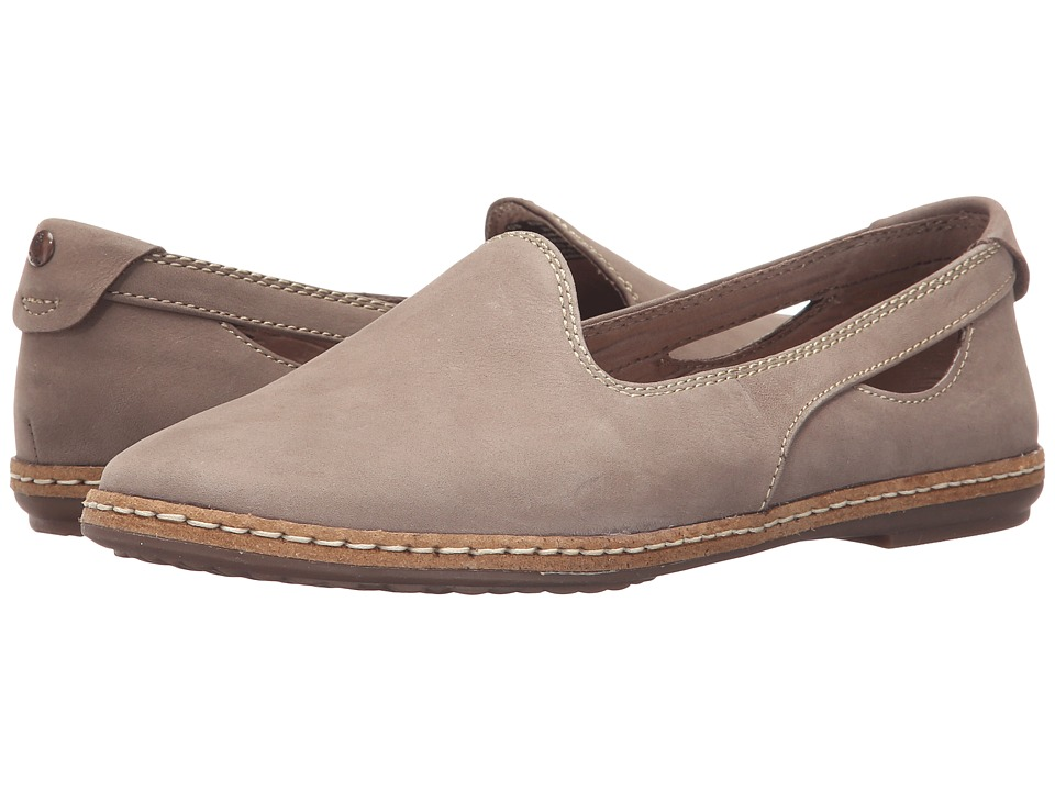 Hush Puppies - Sebeka Piper (Taupe Nubuck) Women's Slip on Shoes