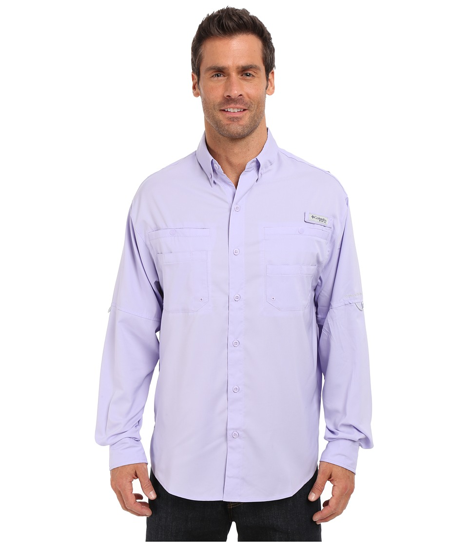 Columbia - Tamiami II L/S (Whitened Violet) Men's Long Sleeve Button Up