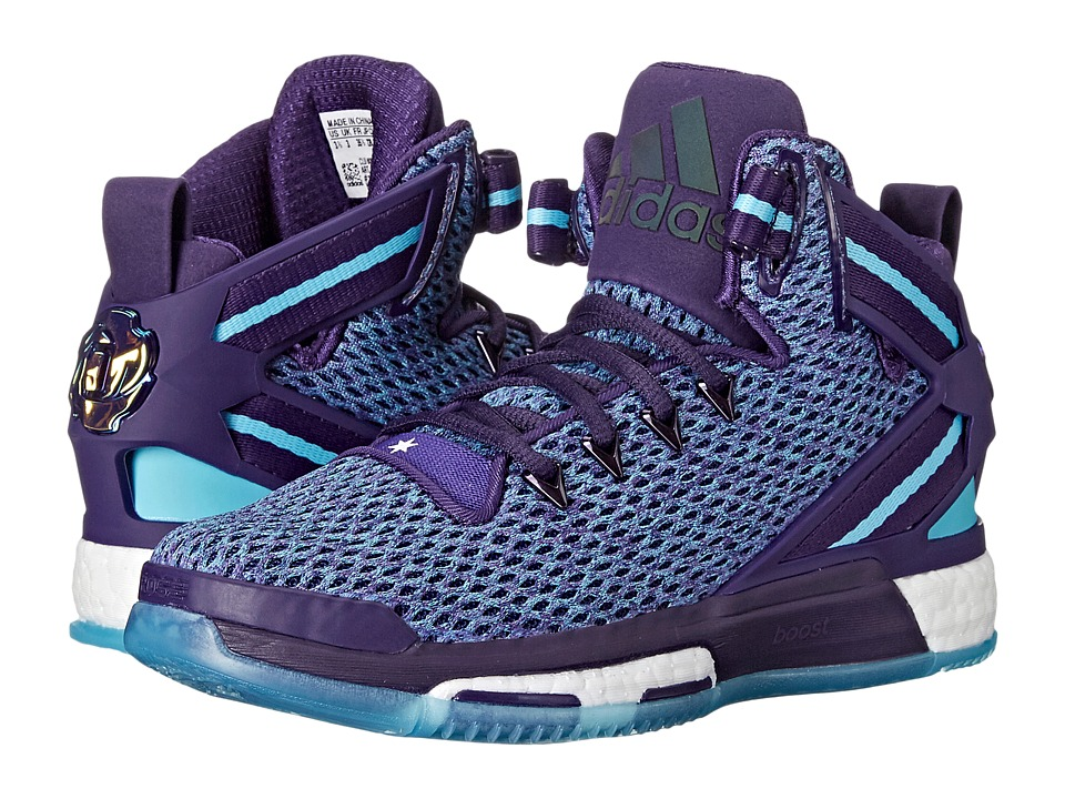 adidas Kids - D Rose 6 Boost (Big Kid) (Dark Purple/Blast/Blue) Boys Shoes