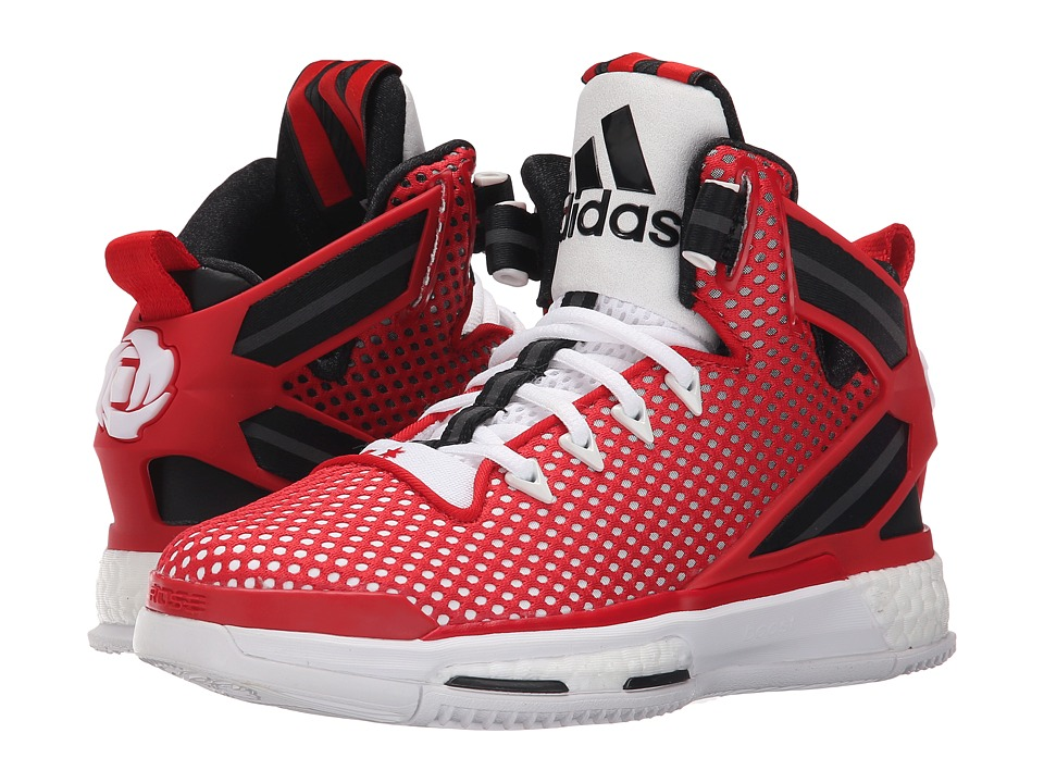 adidas Kids D Rose 6 Boost (Big Kid) (Red/White/Black) Boys Shoes