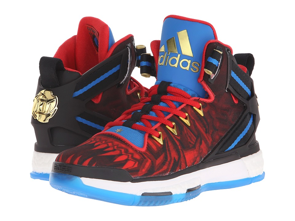 adidas Kids - D Rose 6 Boost (Big Kid) (Black/Red/Blue) Boys Shoes