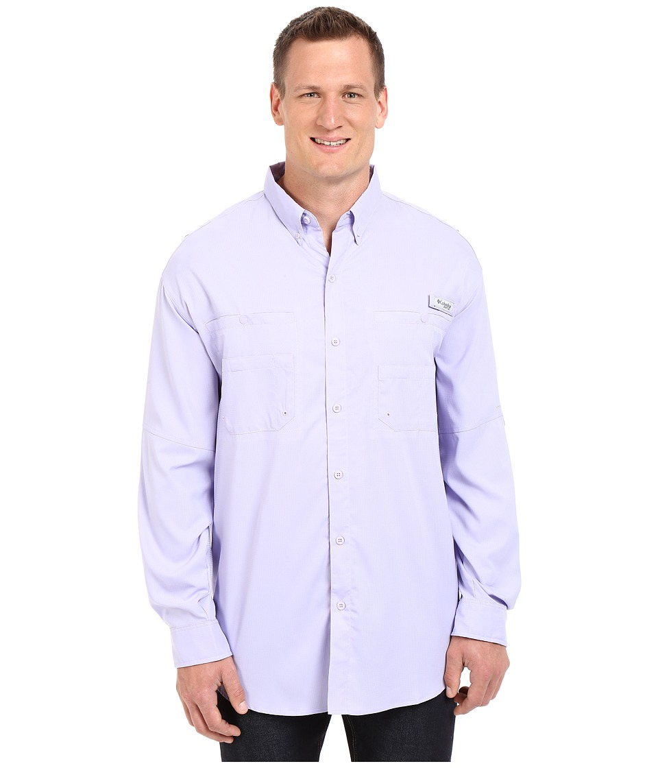 Columbia - Tamiami II L/S - Big (Whitened Violet) Men's Long Sleeve Button Up