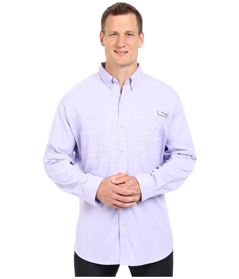 Columbia - Tamiami II L/S - Tall (Whitened Violet) Men's Long Sleeve Button Up