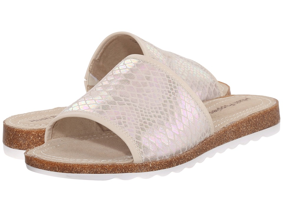 Hush Puppies - Panton Jade (Off-White Novelty Leather) Women's Slide Shoes
