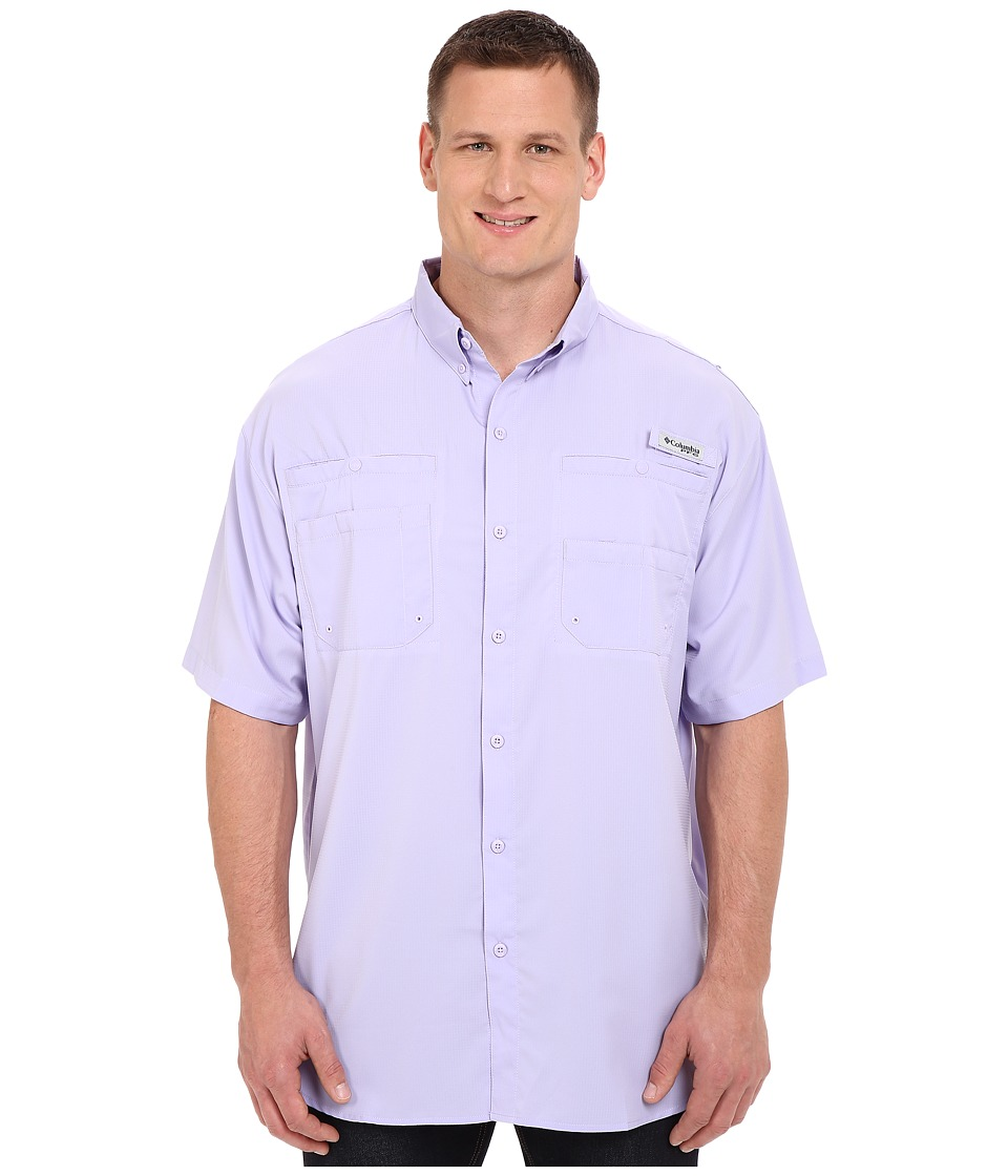 Columbia - Tamiami II S/S - Big (Whitened Violet) Men's Short Sleeve Button Up