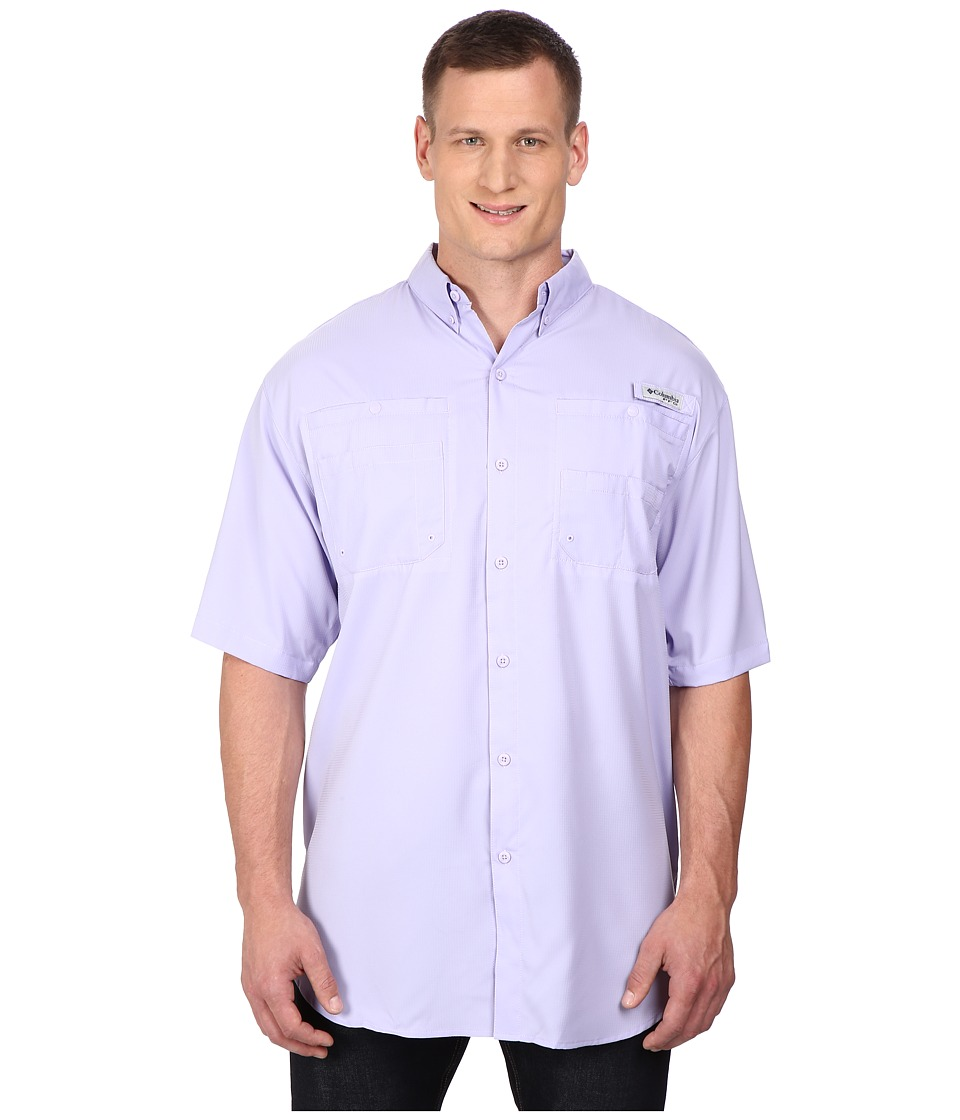 Columbia - Tamiami II S/S - Tall (Whitened Violet) Men's Short Sleeve Button Up