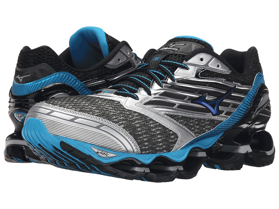 Mizuno - Wave Prophecy 5 (Gunmetal/Atomic Blue/Black) Men's Running Shoes