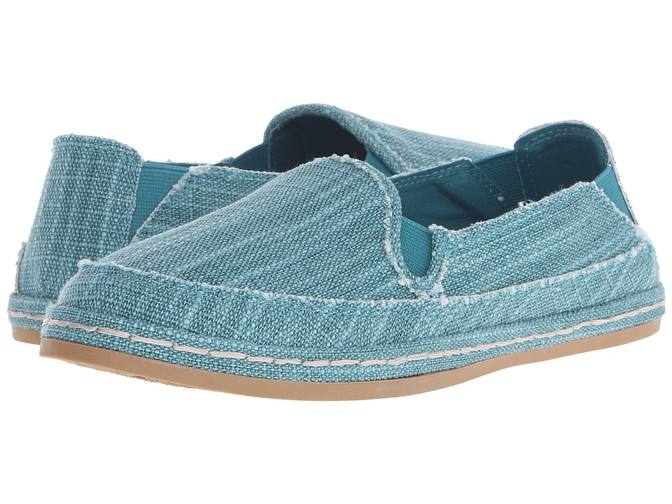 Hush Puppies - Cassie Kelli (Turquoise Canvas) Women's Slip on Shoes