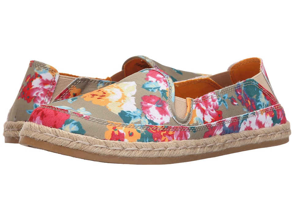 Hush Puppies Cassie Kelli (Natural Floral Canvas) Women