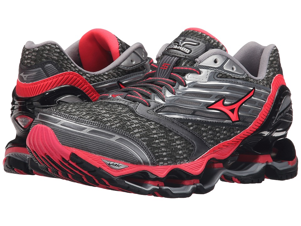 Mizuno - Wave Prophecy 5 (Gunmetal/Diva Pink/Dark Shadow) Women's Running Shoes