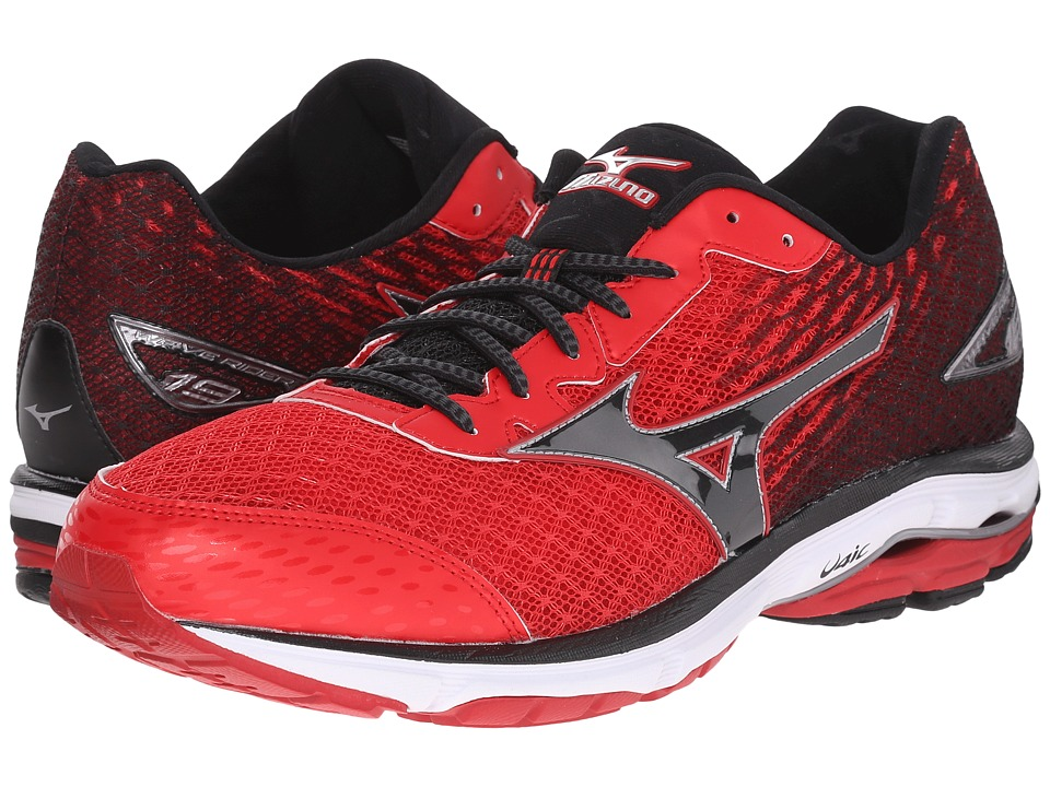 Mizuno - Wave Rider 19 (Chinese Red/Black/White) Men's Running Shoes