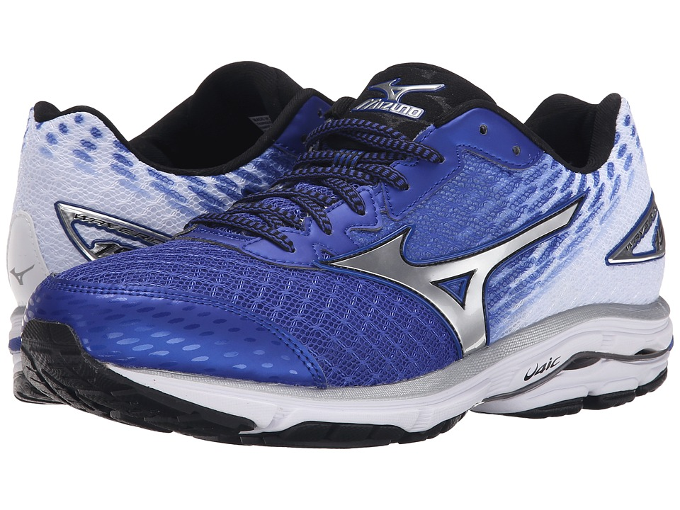 Mizuno Wave Rider 19 (Surf the Web/Silver/Black) Men