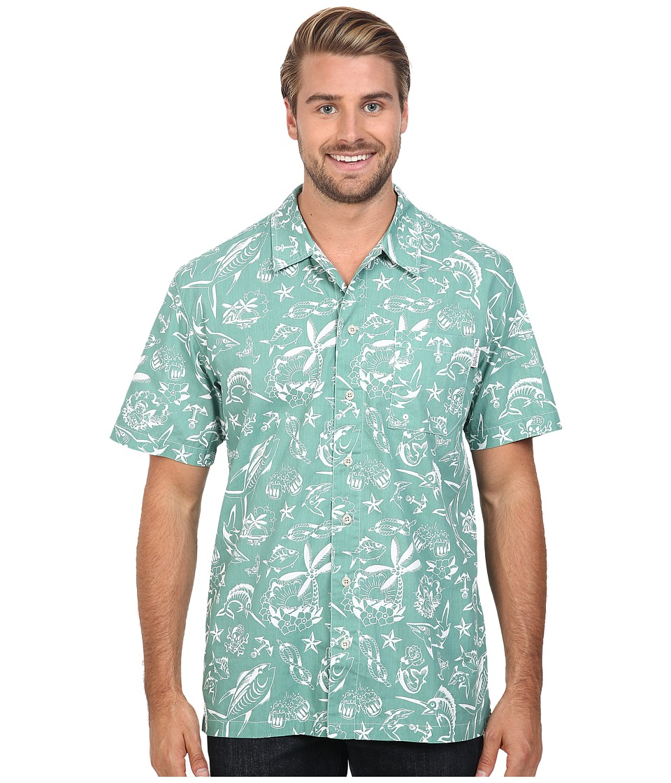 Columbia - Trollers Best S/S Shirt (Gemstone Offshore Print) Men's Short Sleeve Button Up