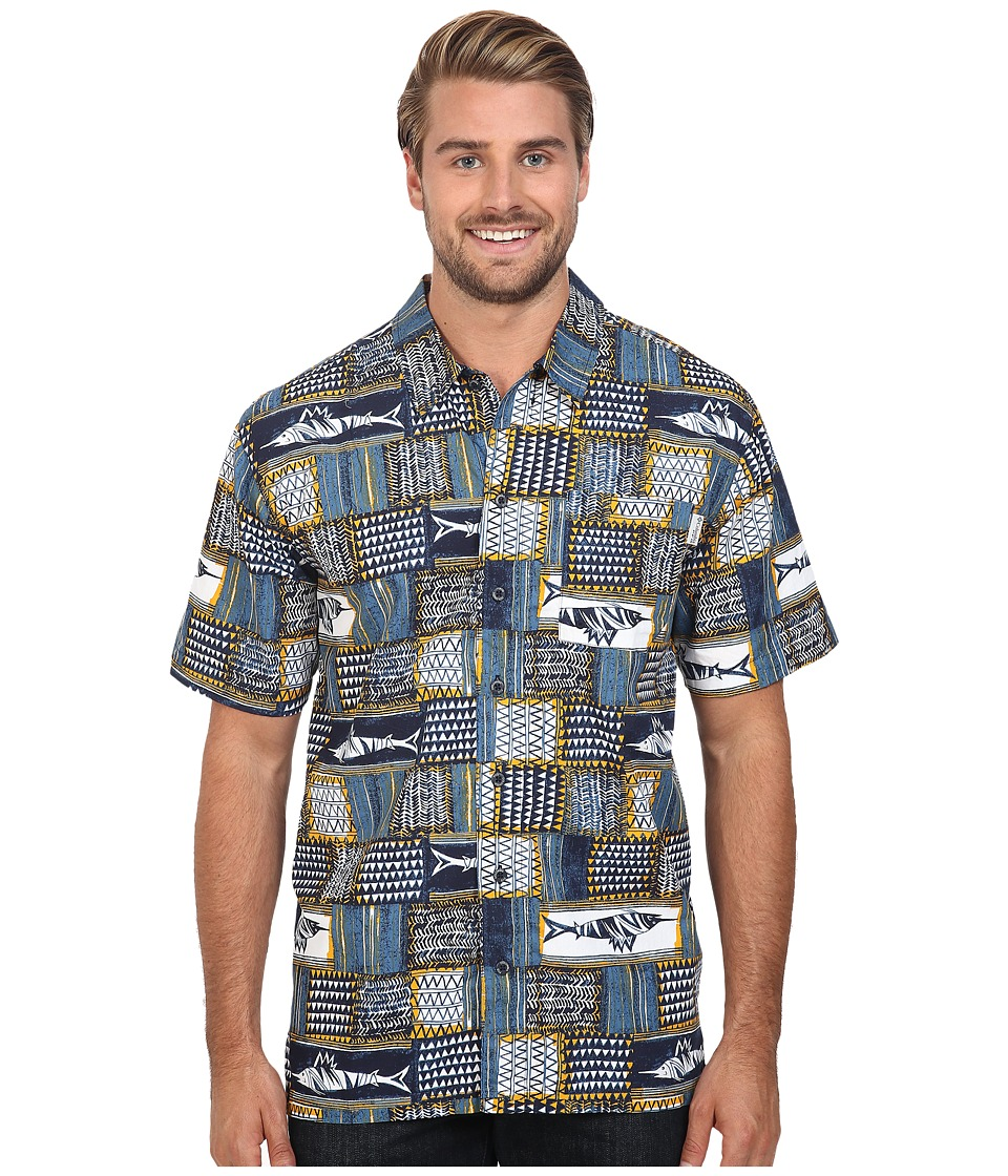 Columbia - Trollers Best S/S Shirt (Steel Retro Marlin Print) Men's Short Sleeve Button Up
