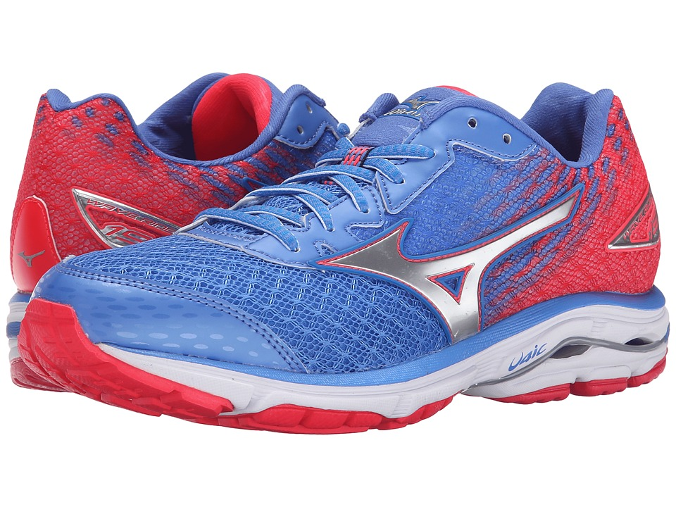 Mizuno - Wave Rider 19 (Palace Blue/Silver/Diva Pink) Women's Running Shoes