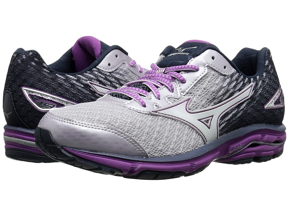 Mizuno - Wave Rider 19 (Lilac Marble/White/Hyacinth Violet) Women's Running Shoes