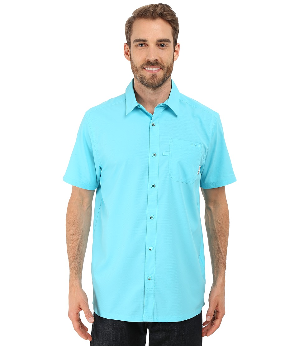 Columbia - Slack Tide Camp Shirt (Opal Blue) Men's Short Sleeve Button Up