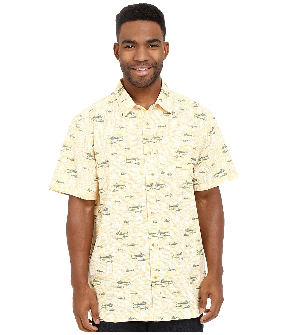 Columbia - Super Slack Tide Camp Shirt (Stinger Retro Fish Print) Men's Short Sleeve Button Up