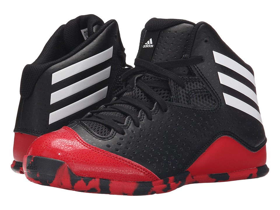 adidas Kids - Next Level Speed IV (Little Kid/Big Kid) (Black/White/Scarlet) Boys Shoes