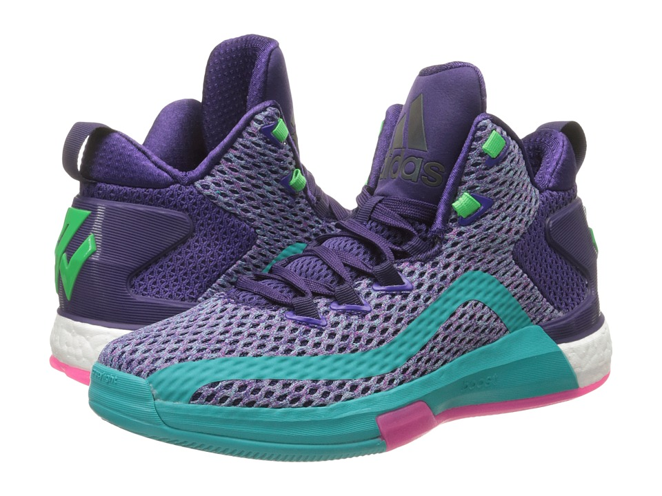 adidas Kids J Wall 2 Boost (Big Kid) (Purple/Blast/Pink) Boys Shoes