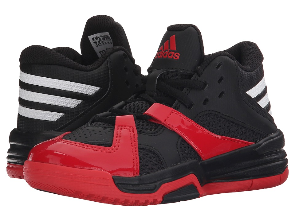 adidas Kids - First Step (Little Kid/Big Kid) (Black/White/Scarlet) Boys Shoes