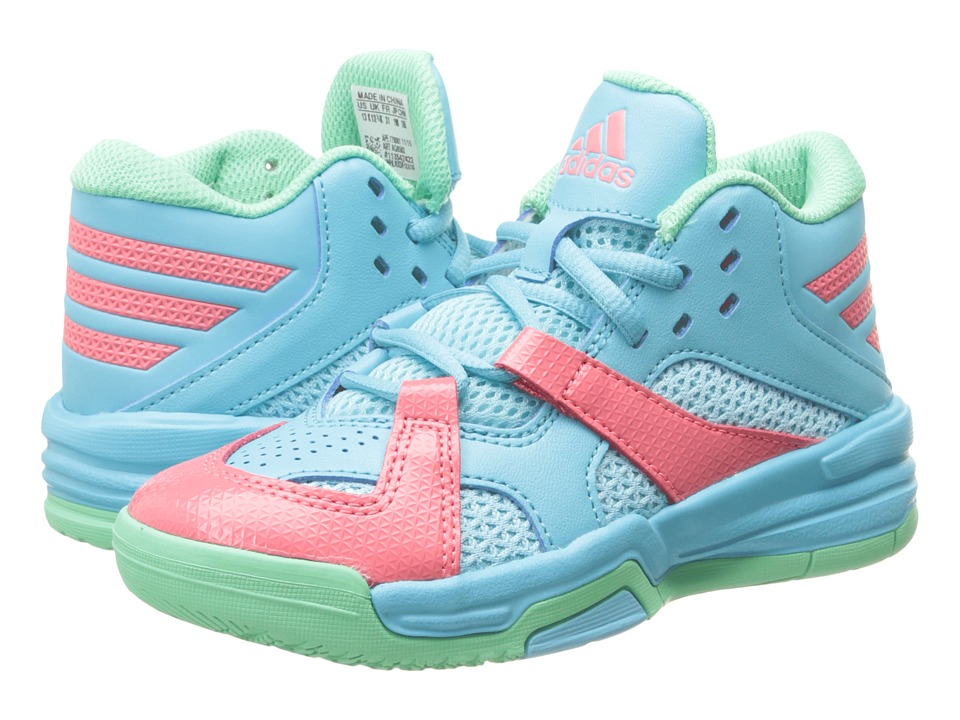adidas Kids First Step (Little Kid/Big Kid) (Blue Glow/Green Glow/Super Blush) Boys Shoes