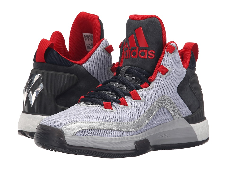 adidas Kids J Wall 2 Boost (Big Kid) (Metallic Silver/Dark Grey/Scarlet) Boys Shoes