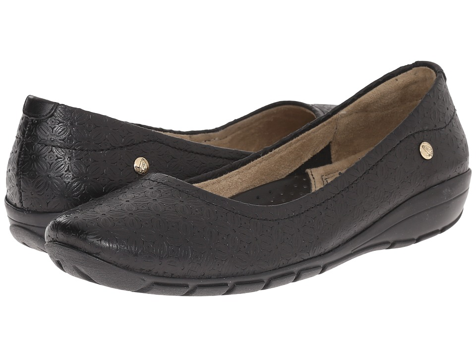 Hush Puppies - Rachel Dandy (Black Leather) Women's Flat Shoes