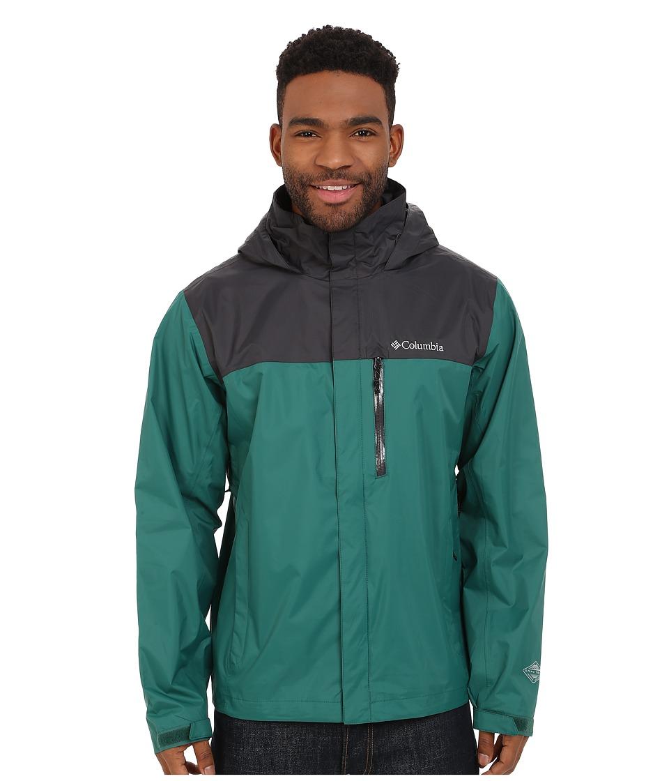 Columbia - Pouration Jacket (Pine Green/Shark) Men's Coat