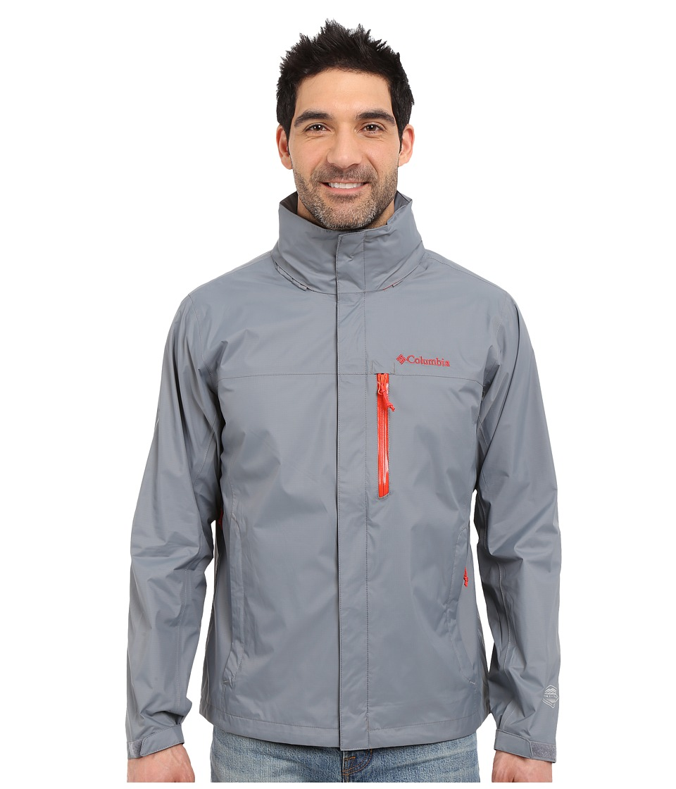 Columbia - Pourationtm Jacket (Grey Ash/Super Sonic) Men's Coat