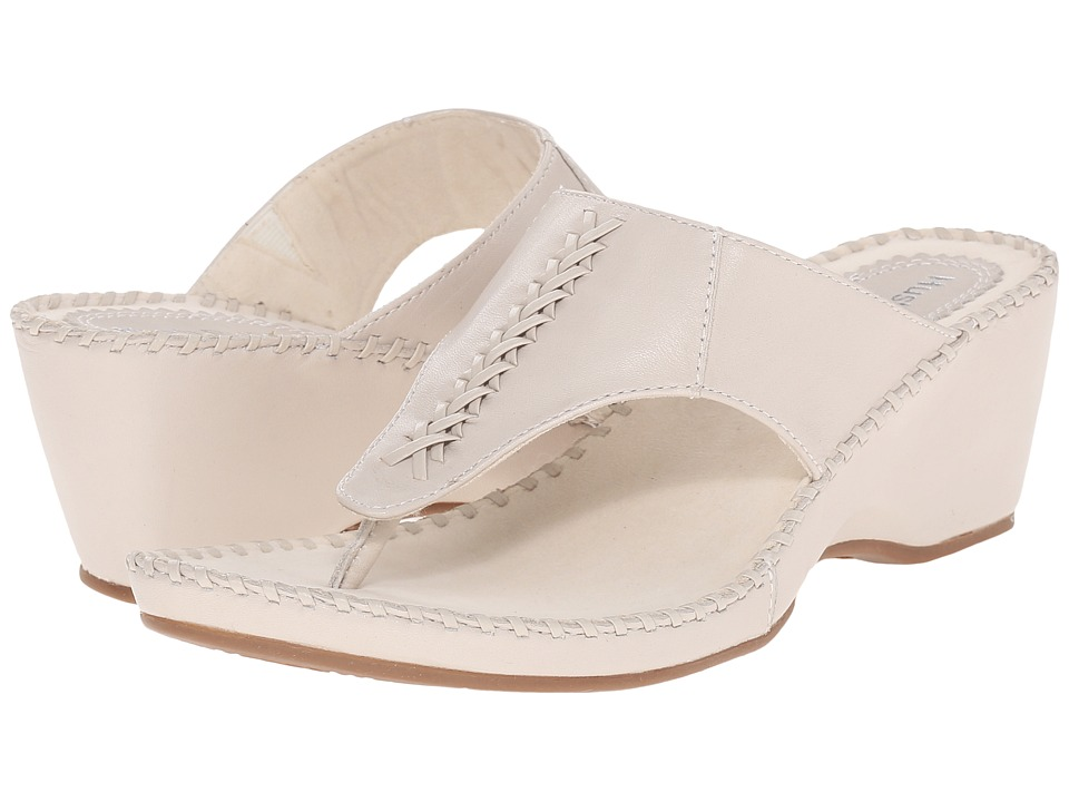 Hush Puppies - Aven Copacabana (Off-White Leather) Women's Sandals