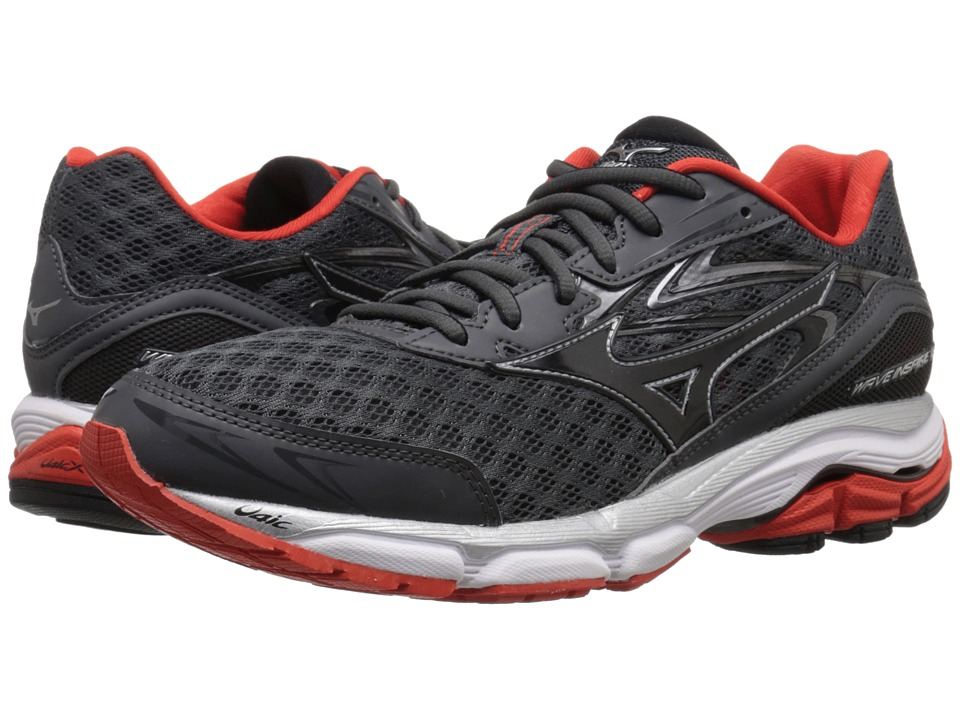 Mizuno Wave Inspire 12 (Dark Shadow/Black/Fiesta) Men
