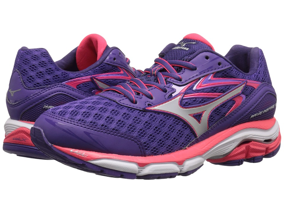 Mizuno - Wave Inspire 12 (Royal Purple/Silver/Diva Pink) Women's Running Shoes