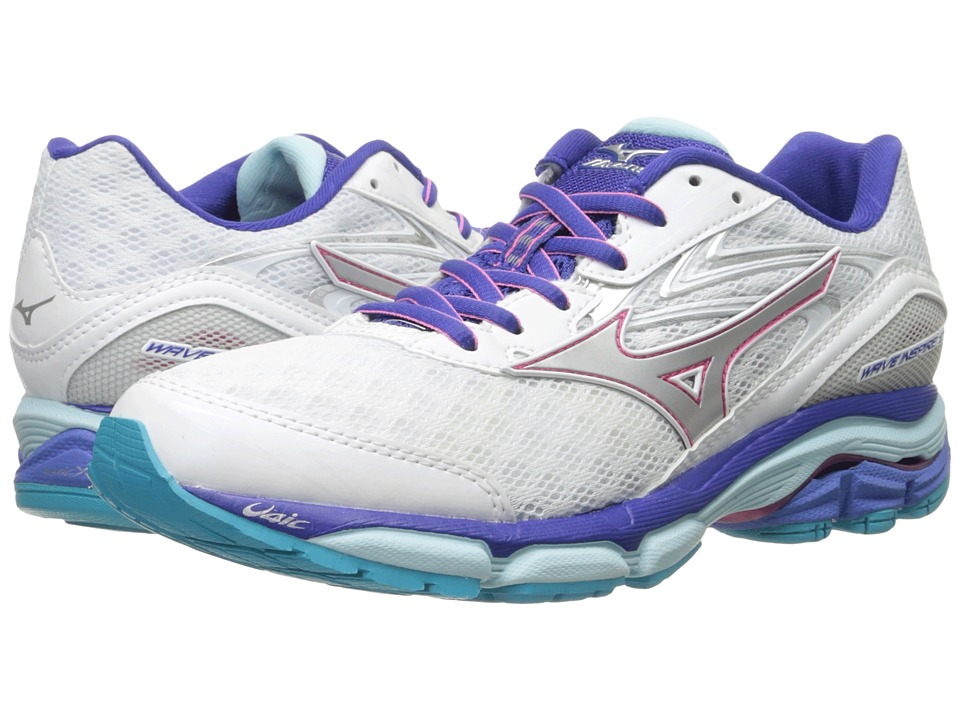 Mizuno - Wave Inspire 12 (White/Silver/Clearwater) Women's Running Shoes