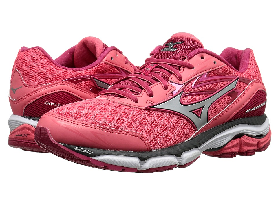 Mizuno - Wave Inspire 12 (Calypso Coral/Silver/Raspberry Wine) Women's Running Shoes