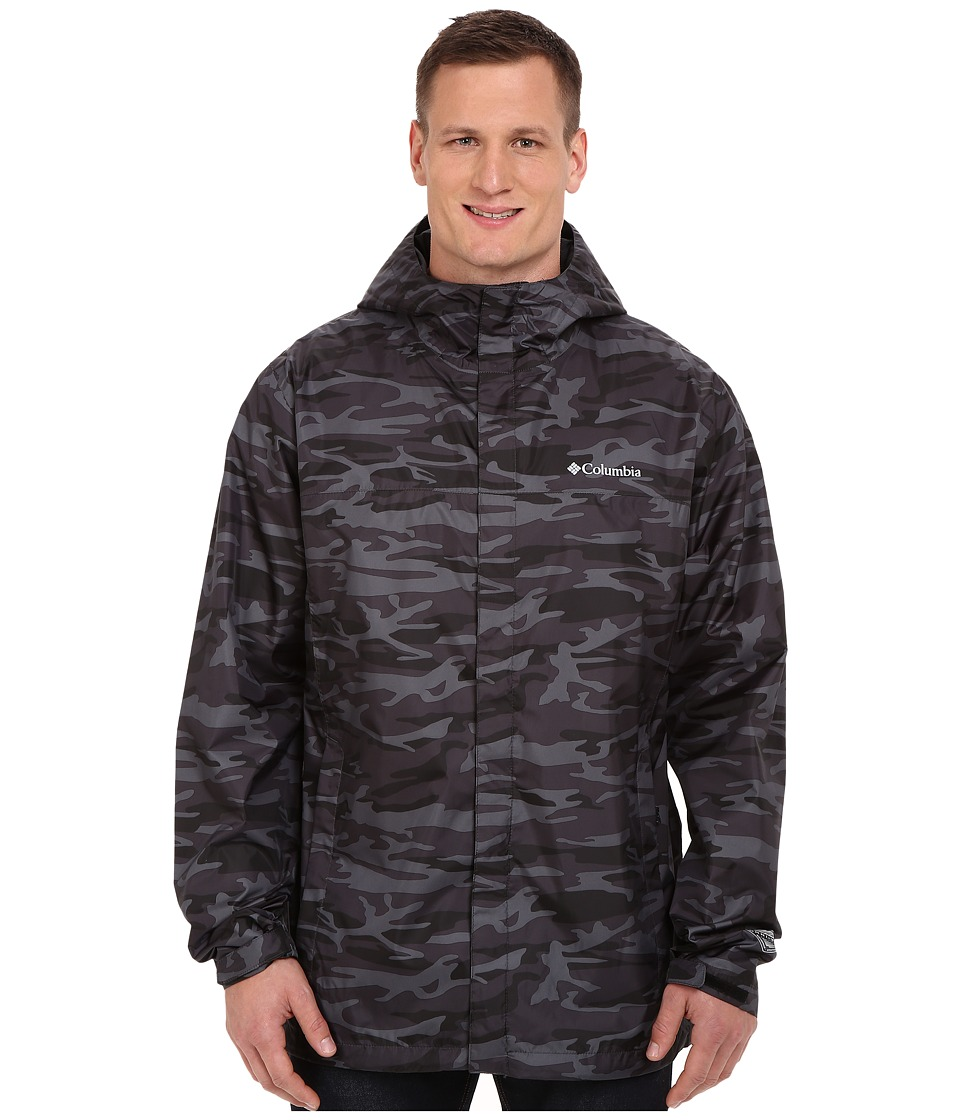 Columbia - Big Tall Watertight Printed Jacket (Black Camo) Men's Coat