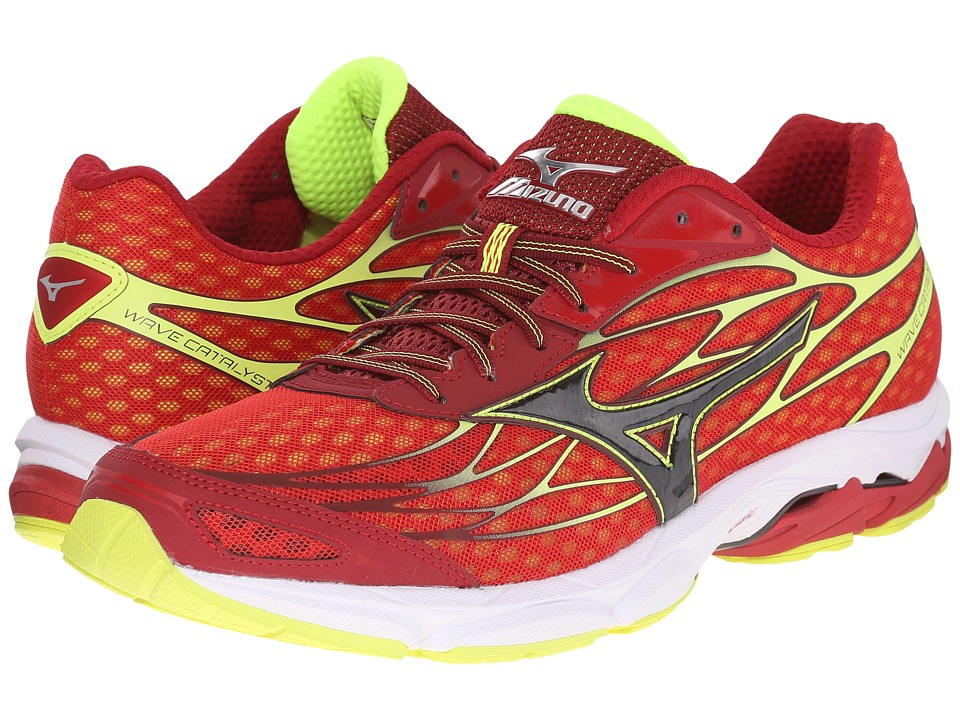 Mizuno - Wave Catalyst (Chinese Red/Black/Safety Yellow) Men's Running Shoes