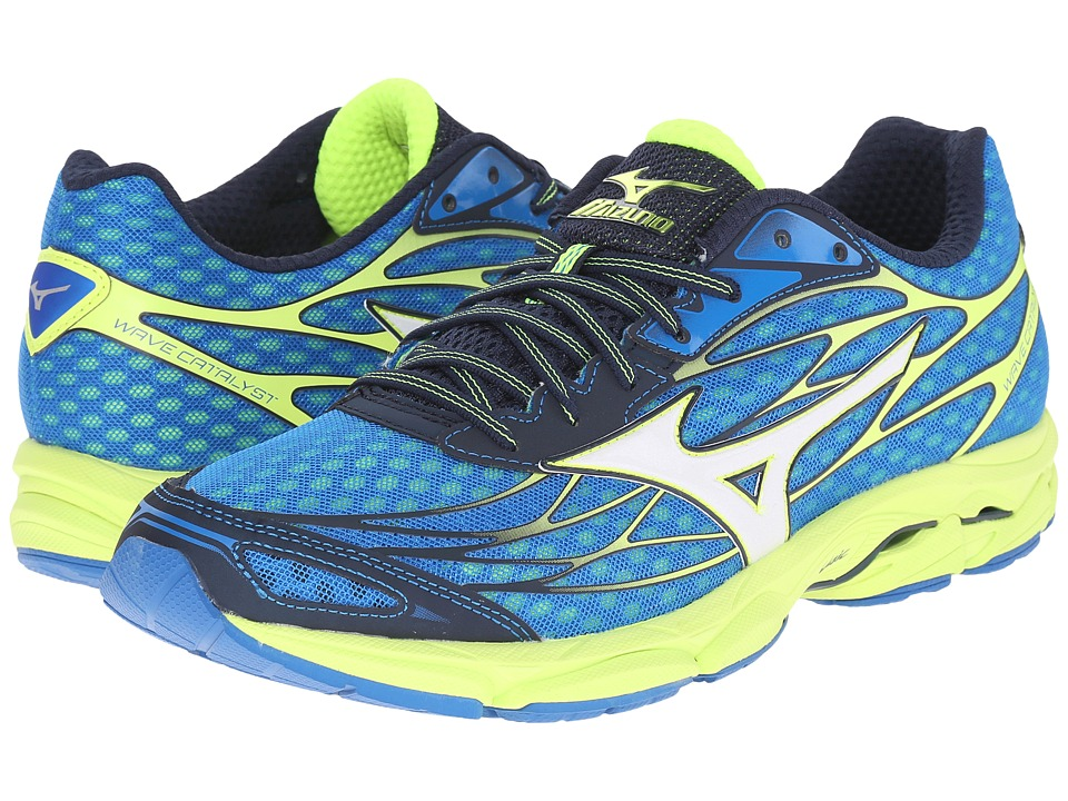 Mizuno - Wave Catalyst (Directoire Blue/White/Safety Yellow) Men's Running Shoes