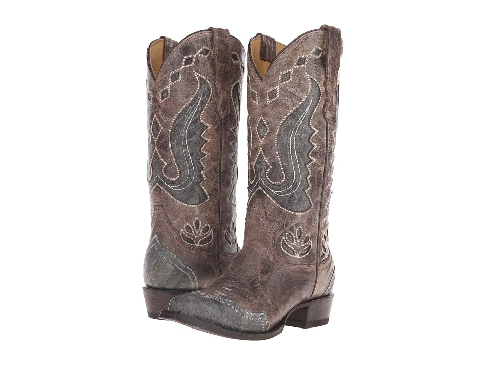 Stetson Hannah Snip (Crackle Brown) Cowboy Boots