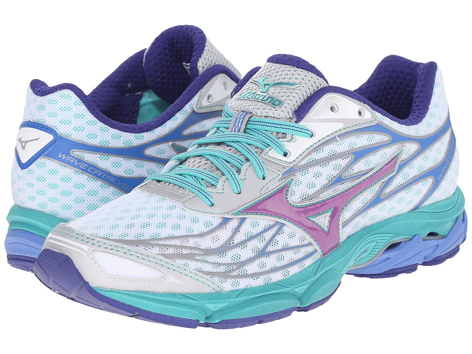 Mizuno - Wave Catalyst (White/Hyacinth Violet/Atlantis) Women's Running Shoes