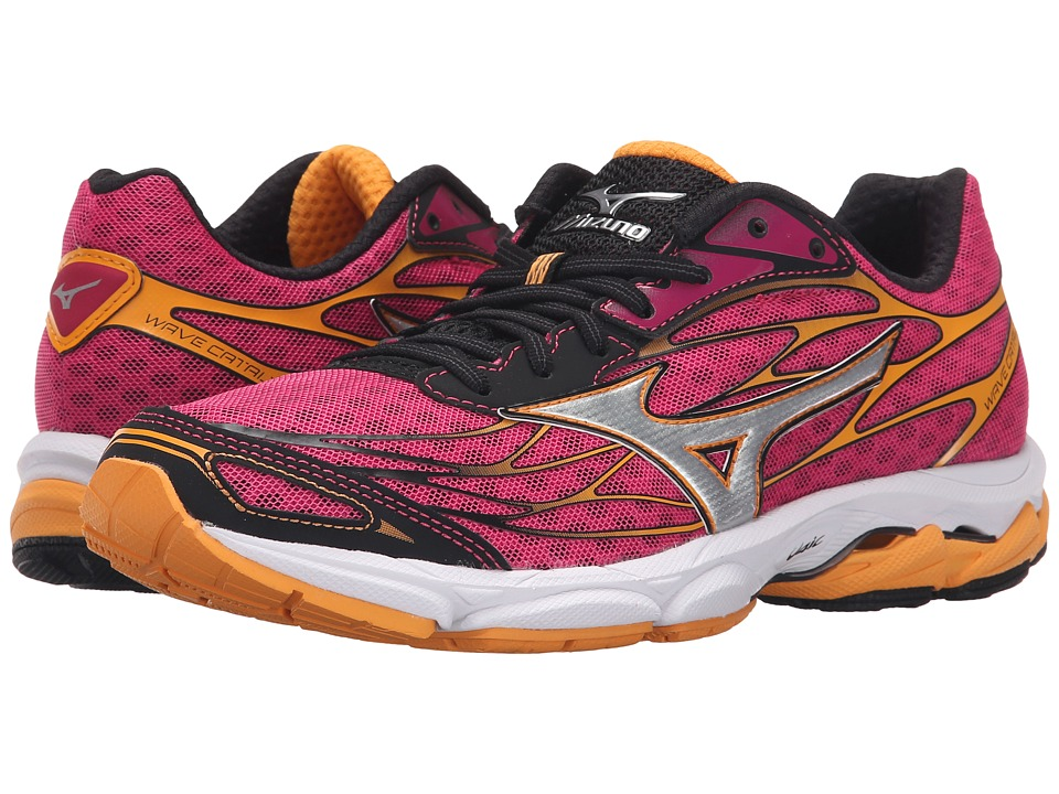 Mizuno - Wave Catalyst (Fuchsia Purple/Silver/Blazing Orange) Women's Running Shoes