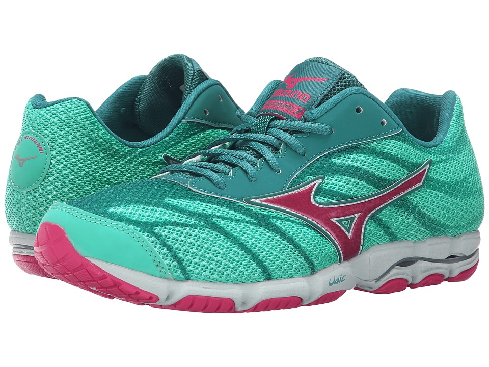Mizuno - Wave Hitogami 3 (Atlantis/Carmine Rose/Harbor Blue) Women's Running Shoes